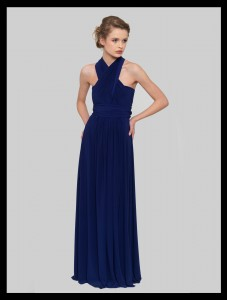 blue multi way bridesmaid dress
