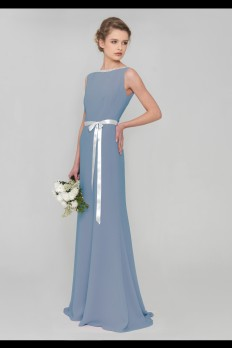 Cornflower blue dresscode bridesmaid dress front