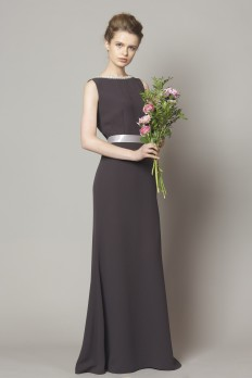 grey crepe bridesmaid dress from  dresscode
