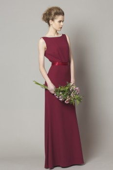 mulberry crepe bridesmaid dress from dresscode