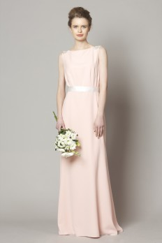 peach crepe  bridesmaids dresses from dresscode