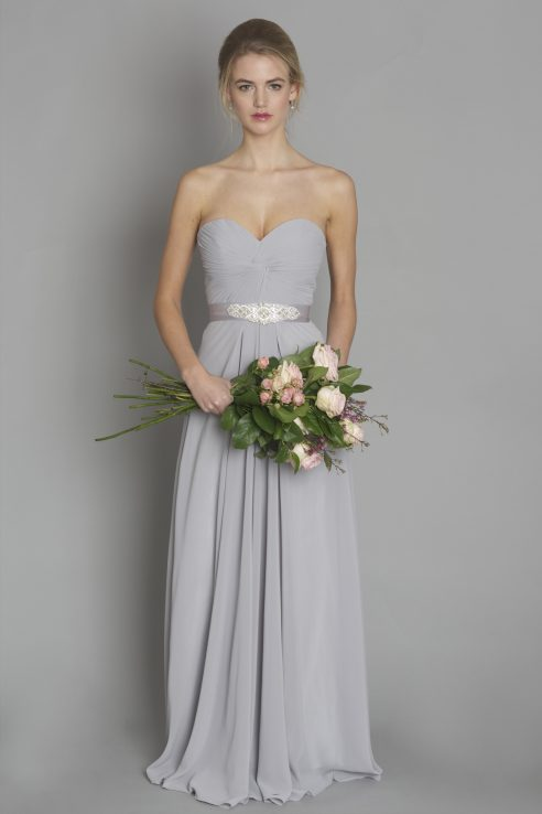 Light grey style dc1184 bridesmaid evening debs for Light grey wedding dress
