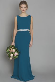 teal-crepe-bridesmaid-dress-ireland