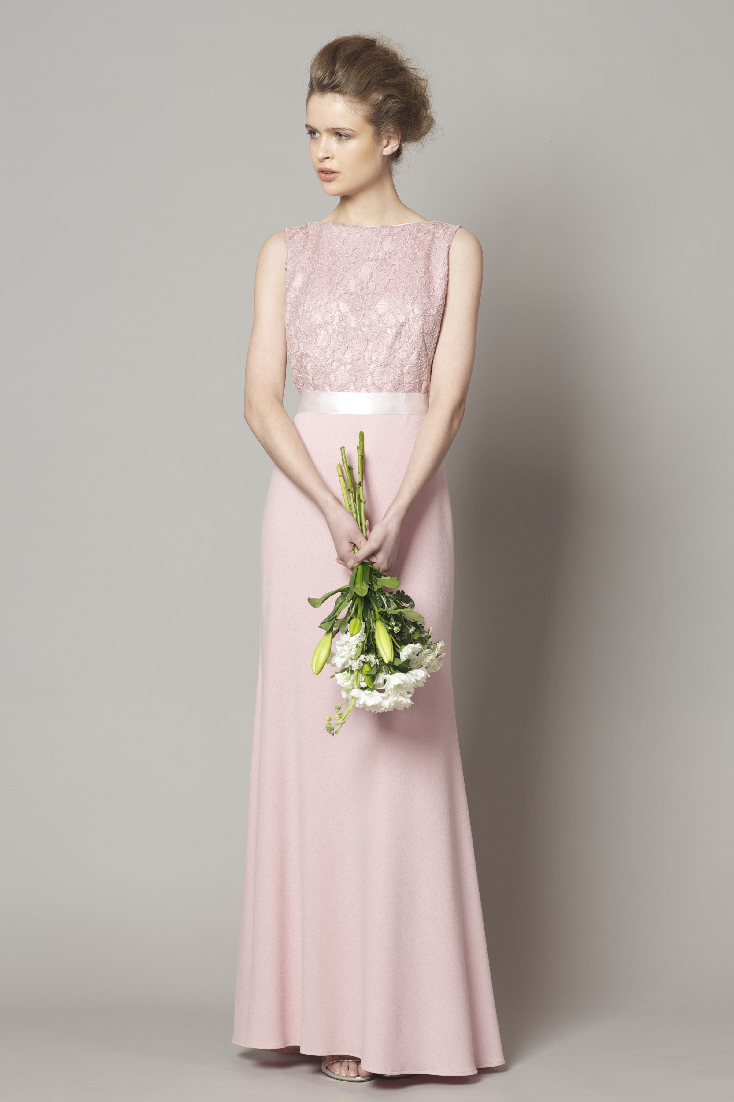 762ca707e8fa9 Rose pink lace top style DC1176 - Bridesmaid Evening   Debs Dresses ...